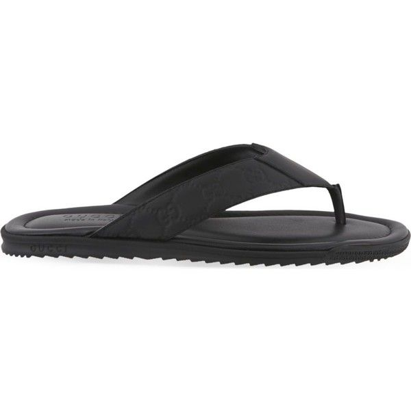 db1632a925ba0a Guccissima flip-flops ( 300) ❤ liked on Polyvore featuring men s fashion