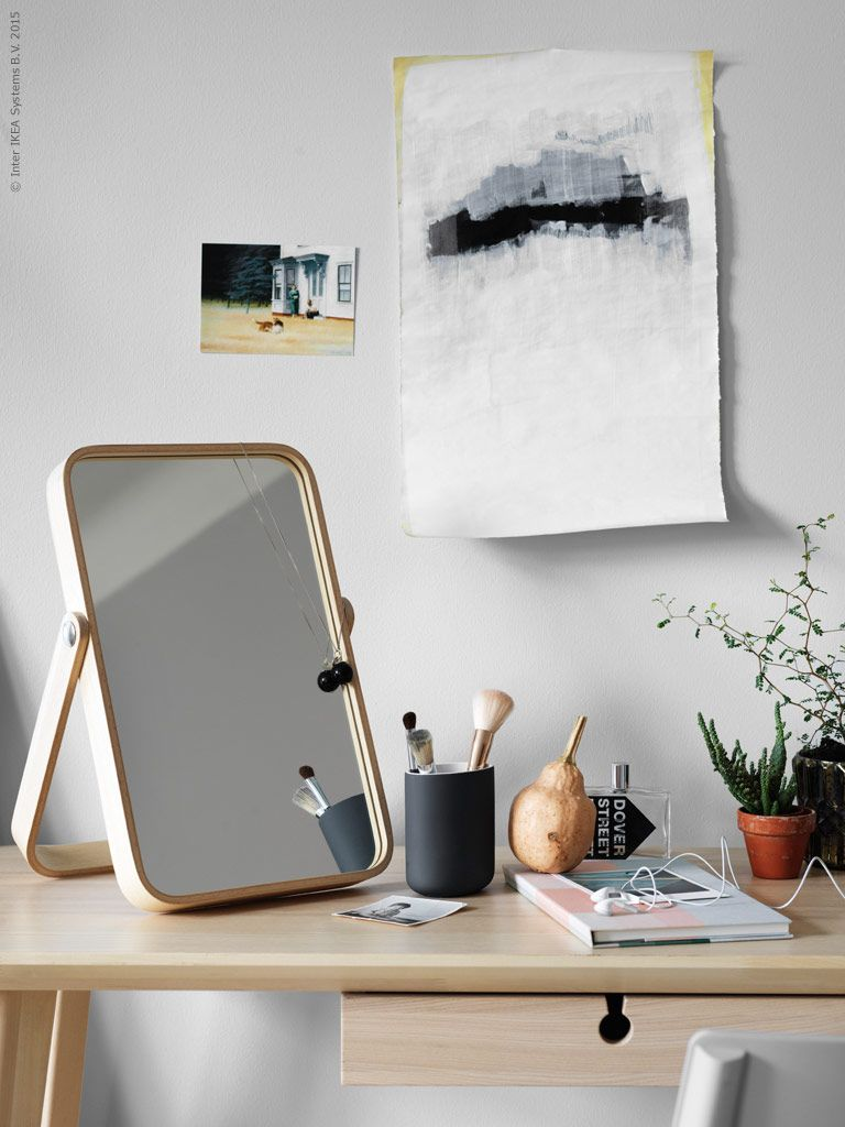 IKORNNES Table mirror, ash | Table mirror, Room and Bedrooms