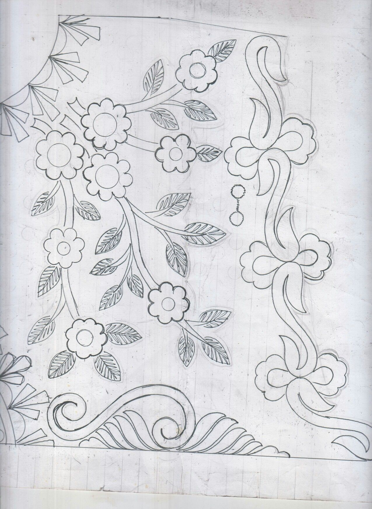 Pin By Baldev Gevariya On Design Sketches Embroidery Designs Machine Embroidery Irish Crochet Motifs