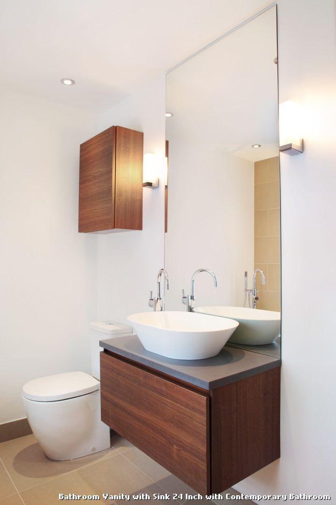 diy distressed bathroom vanity%0A Bathroom Vanity with Sink    Inch
