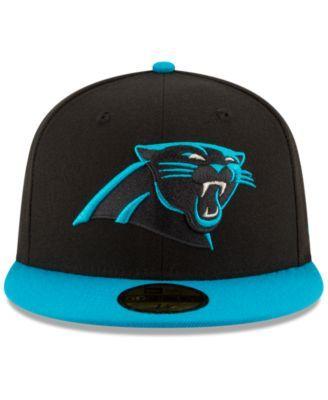 Black Sideline Carolina Panthers New Era 59Fifty Cap
