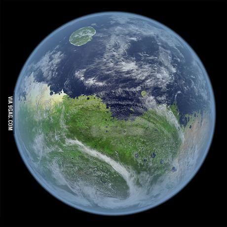 What Mars would look like if it still had water.