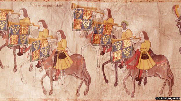The black trumpeter John Blanke played regularly at the courts of Henry VII and Henry VIII