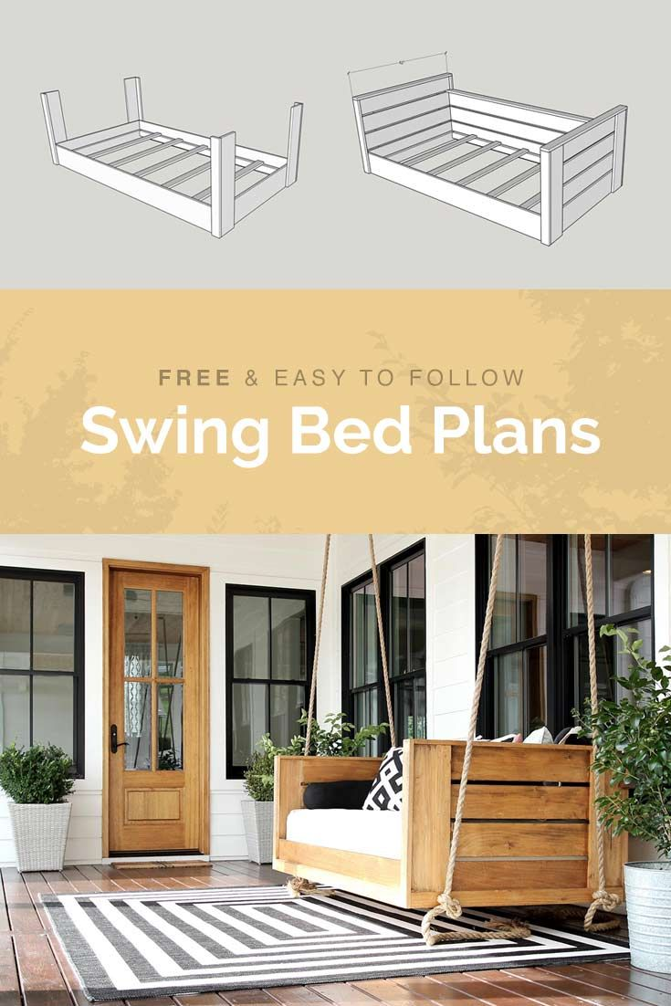 Check out these easy to follow DIY swing bed plans. Step