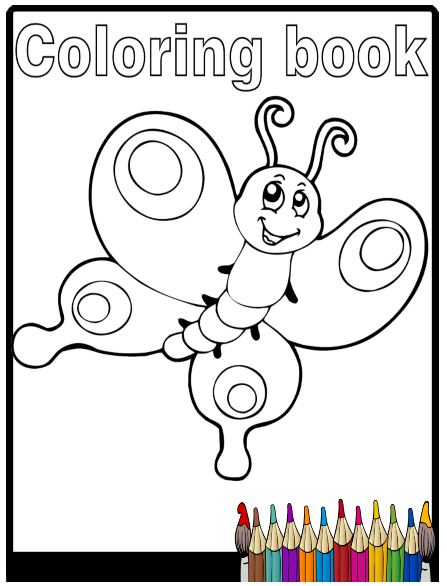Animals Easy Coloring Book Coloring Books Childrens Colouring Book Toddler Coloring Book