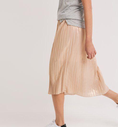 06b81b2e959870 Jupe midi plissée lamée | What I'd like to wear | Jupe midi, Jupe et ...