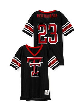 Texas Tech Mesh Bling Boyfriend Jersey Pink Victoria S Secret Tech Clothing Texas Tech Football Texas Tech