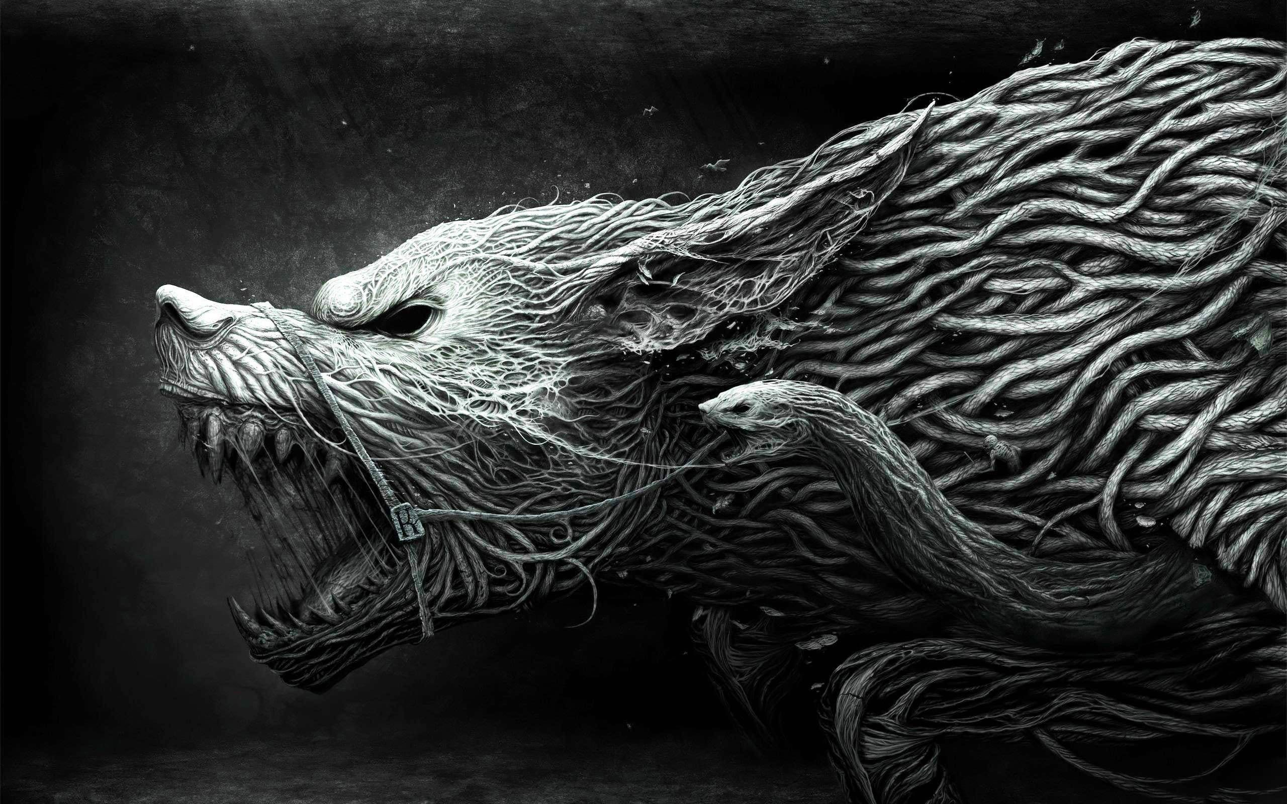 Fenrir Wolf Wallpaper Animal Wallpaper Art Wallpaper