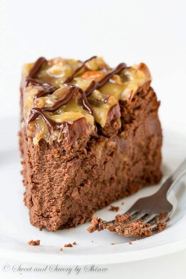 German Chocolate Cheesecake ~Sweet & Savory