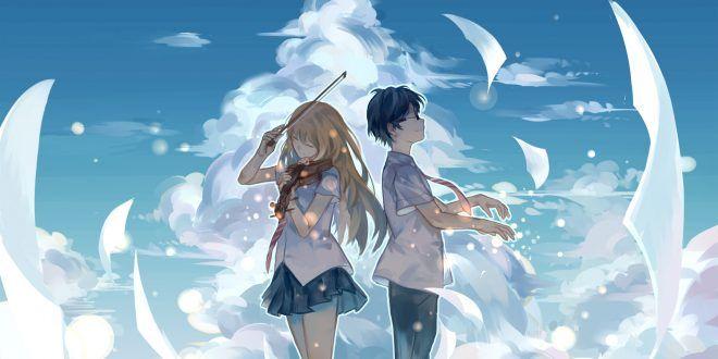 Batch Shigatsu Wa Kimi No Uso Episode 1 22 Subtitle Indonesia Pasangan Anime Lucu Gambar Anime Animasi