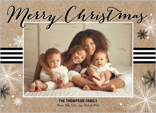 Cheerful And Charming 5x7 Stationery Card by Yours Truly Christmas