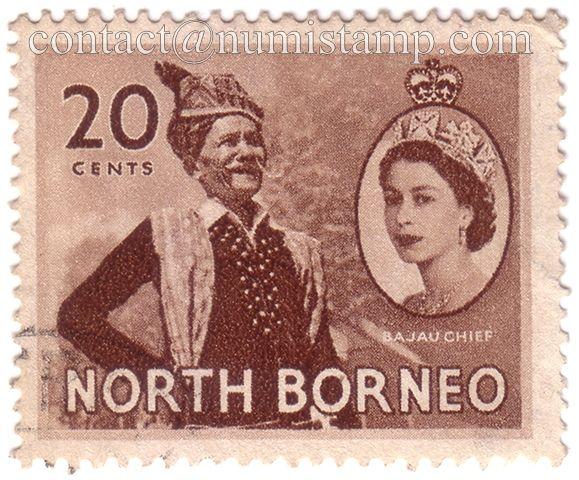 000044-59-North-Borneo-1954-20-cent-QEII-BajauChief.jpg (579×480)