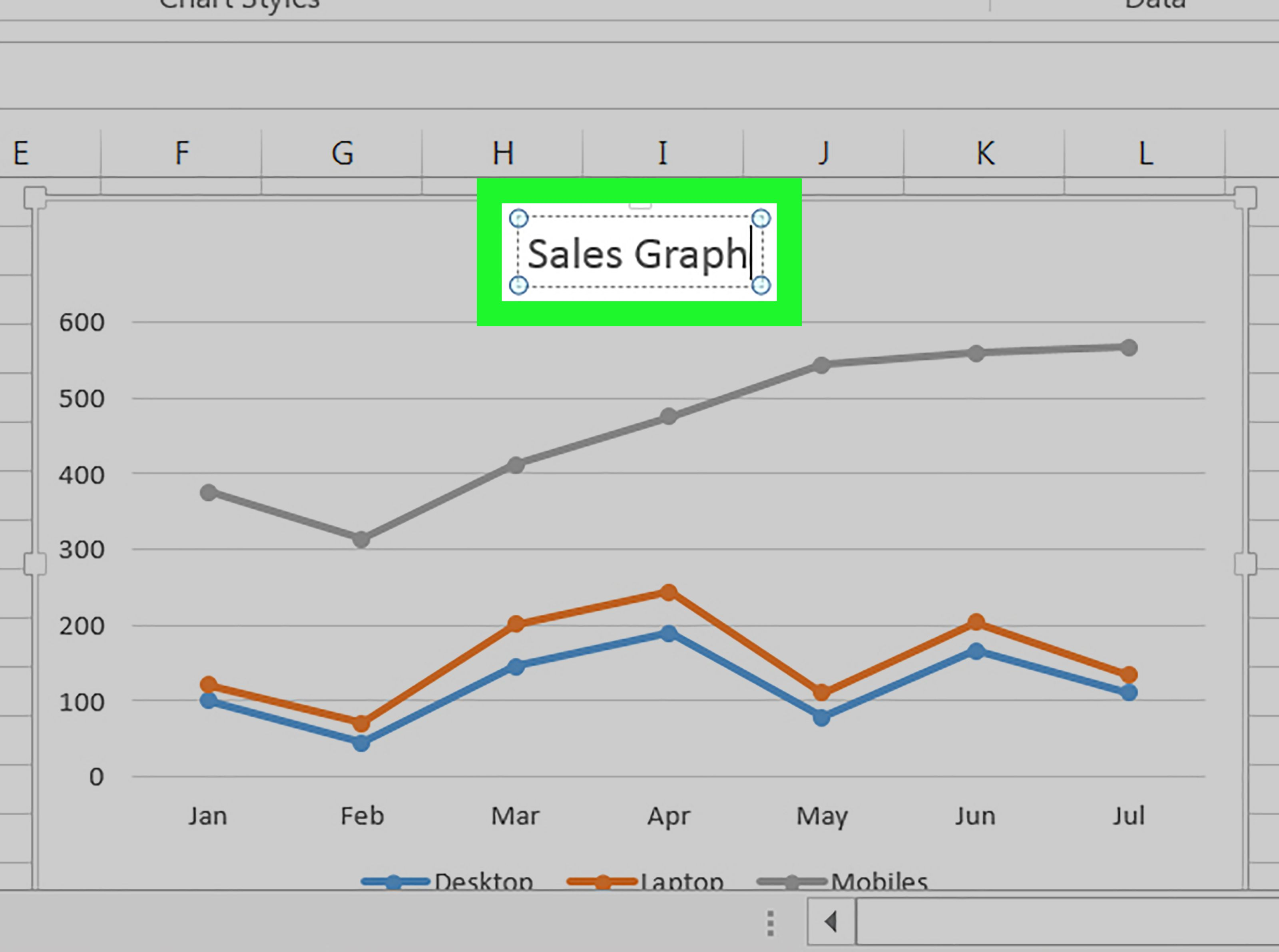 2 Easy Ways To Make A Line Graph In Microsoft Excel Picture Graphs Line Graphs Chart