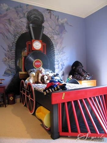 For The Child Who Loves Trains, The Steam Engine Comes Out Of A Faux Tunnel  In A Train Bed    Fun! Kids Spaces
