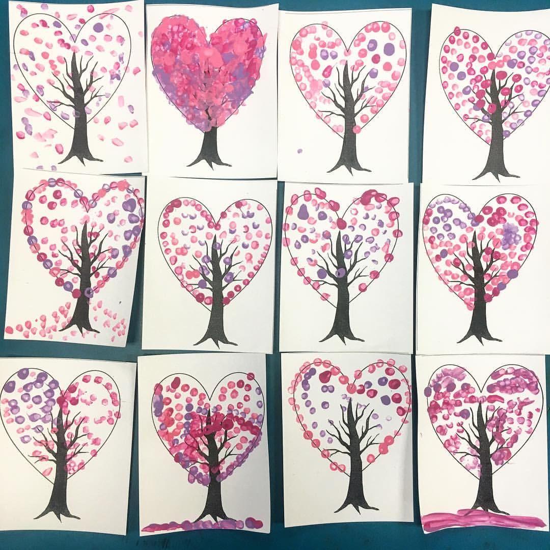 Valentine S Day Spring Trees Spring Kindergarten