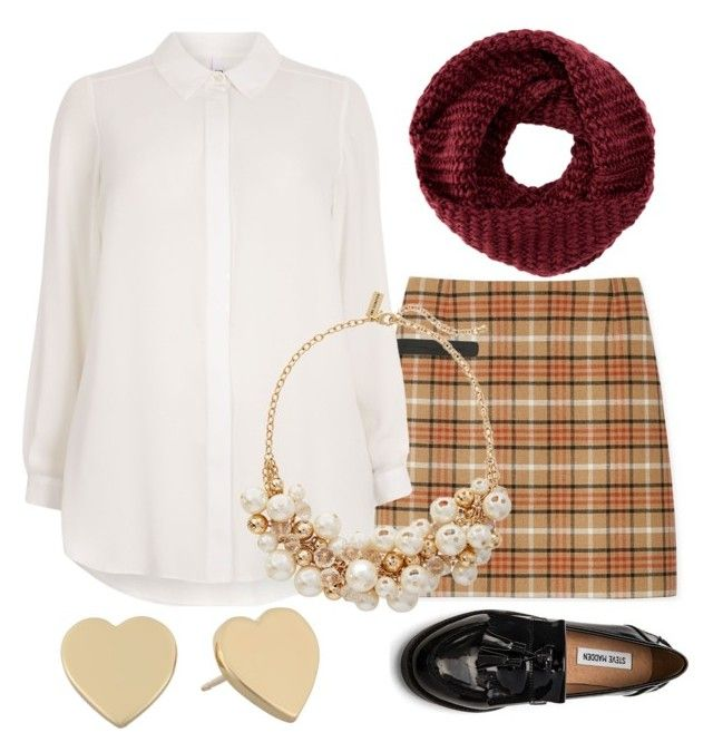 """""""Untitled #2120"""" by jeanne-lemaire-romero on Polyvore featuring Tory Burch, Steve Madden, Evans, The Limited, Kate Spade and TOMS"""