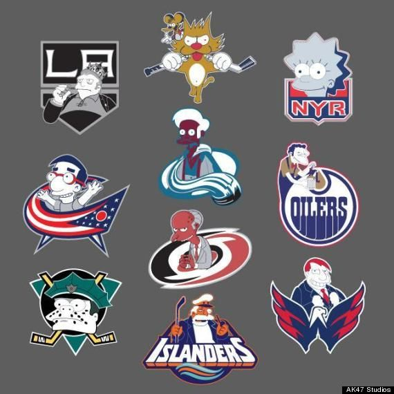 Nhl Logos Simpsons Hockey Kids Hockey Logos Nhl Logos