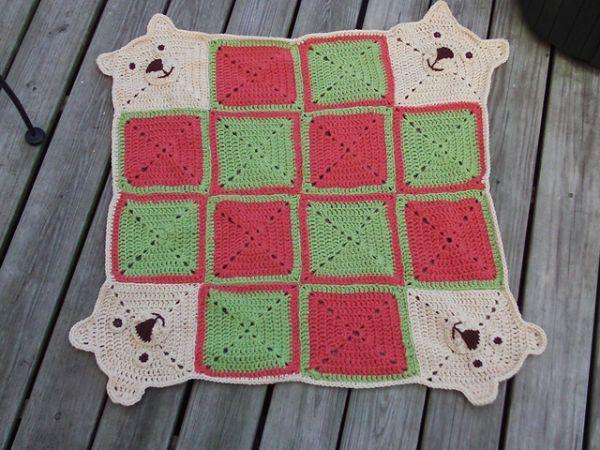 Teddy Go Round Afghan Crochet Pinterest Vintage Crochet
