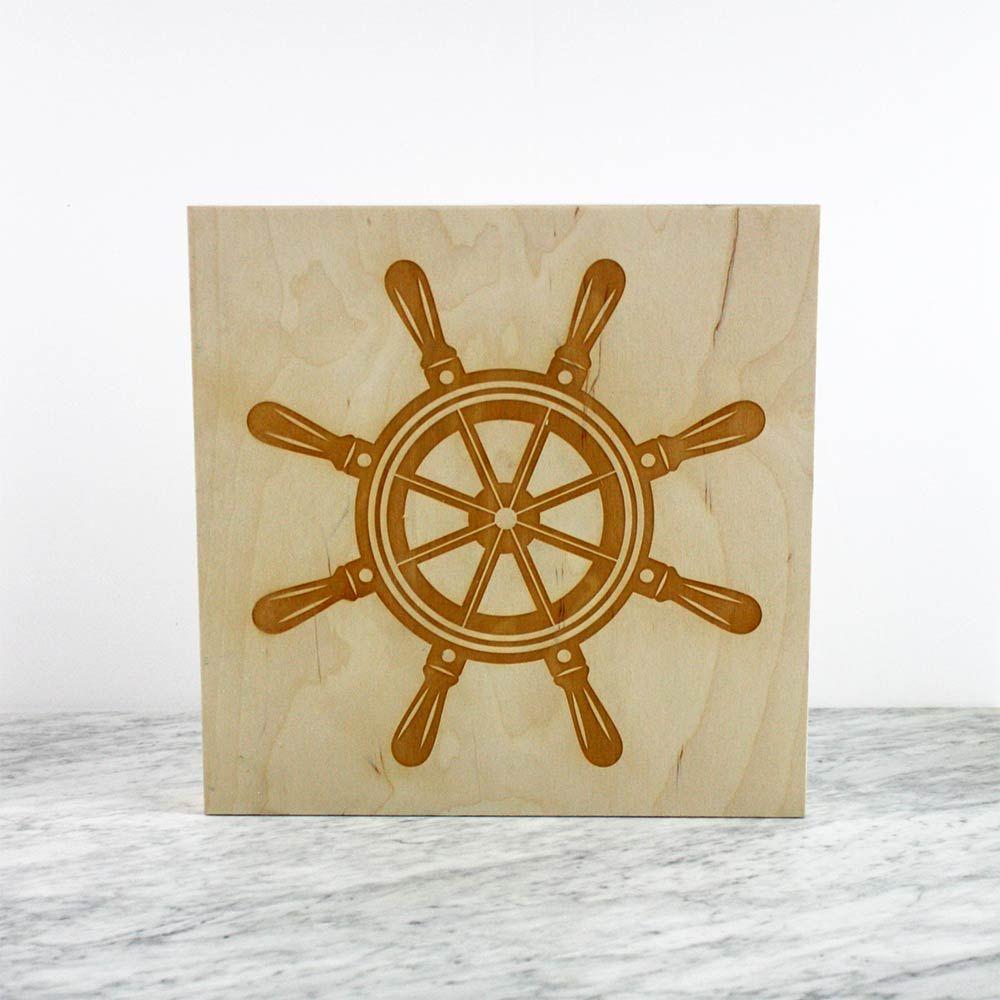 Ship\'s Wheel Wall Art | Ship wheel, Wheels and Birch