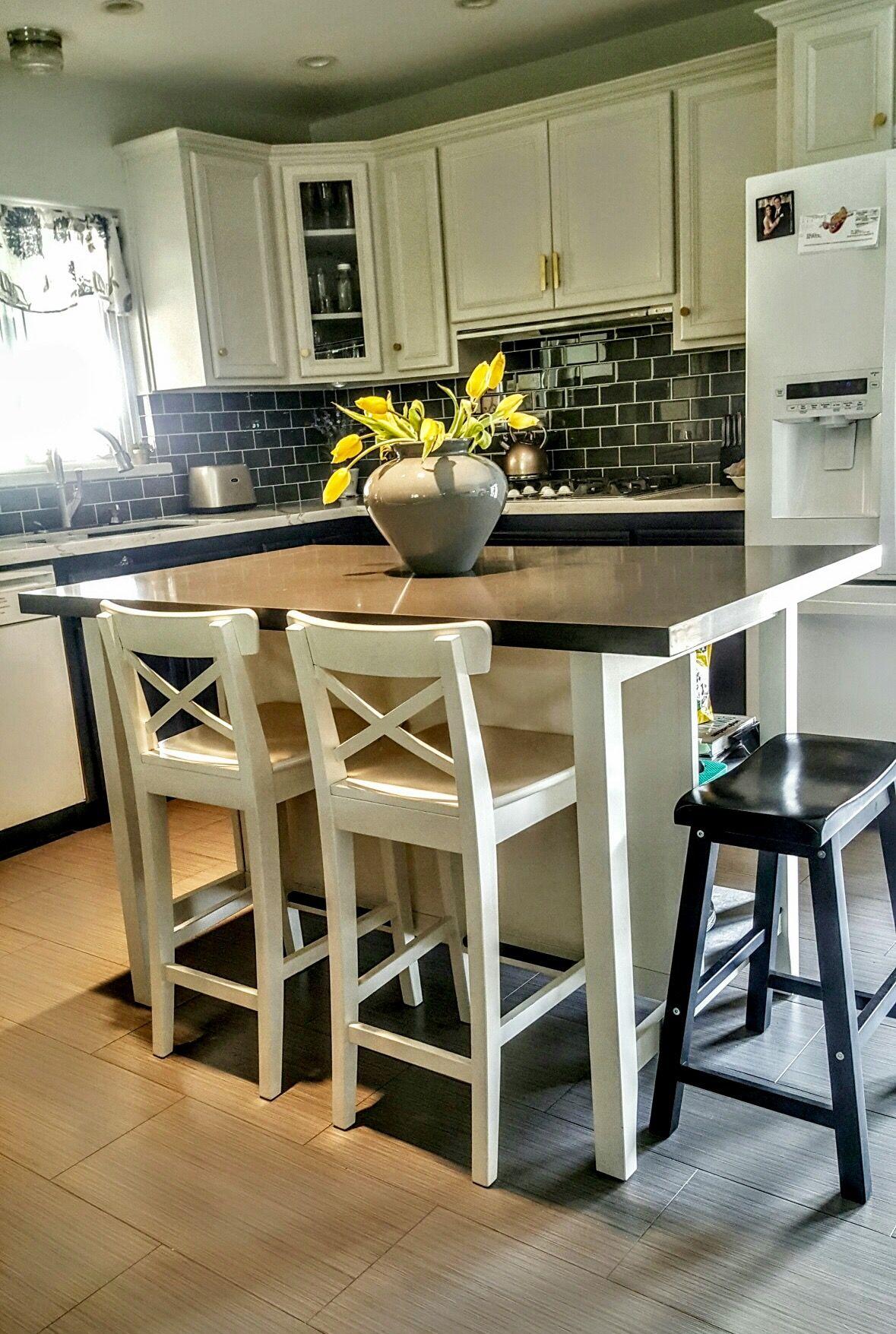 Ikea Stenstorp Kitchen Island Hack We added grey
