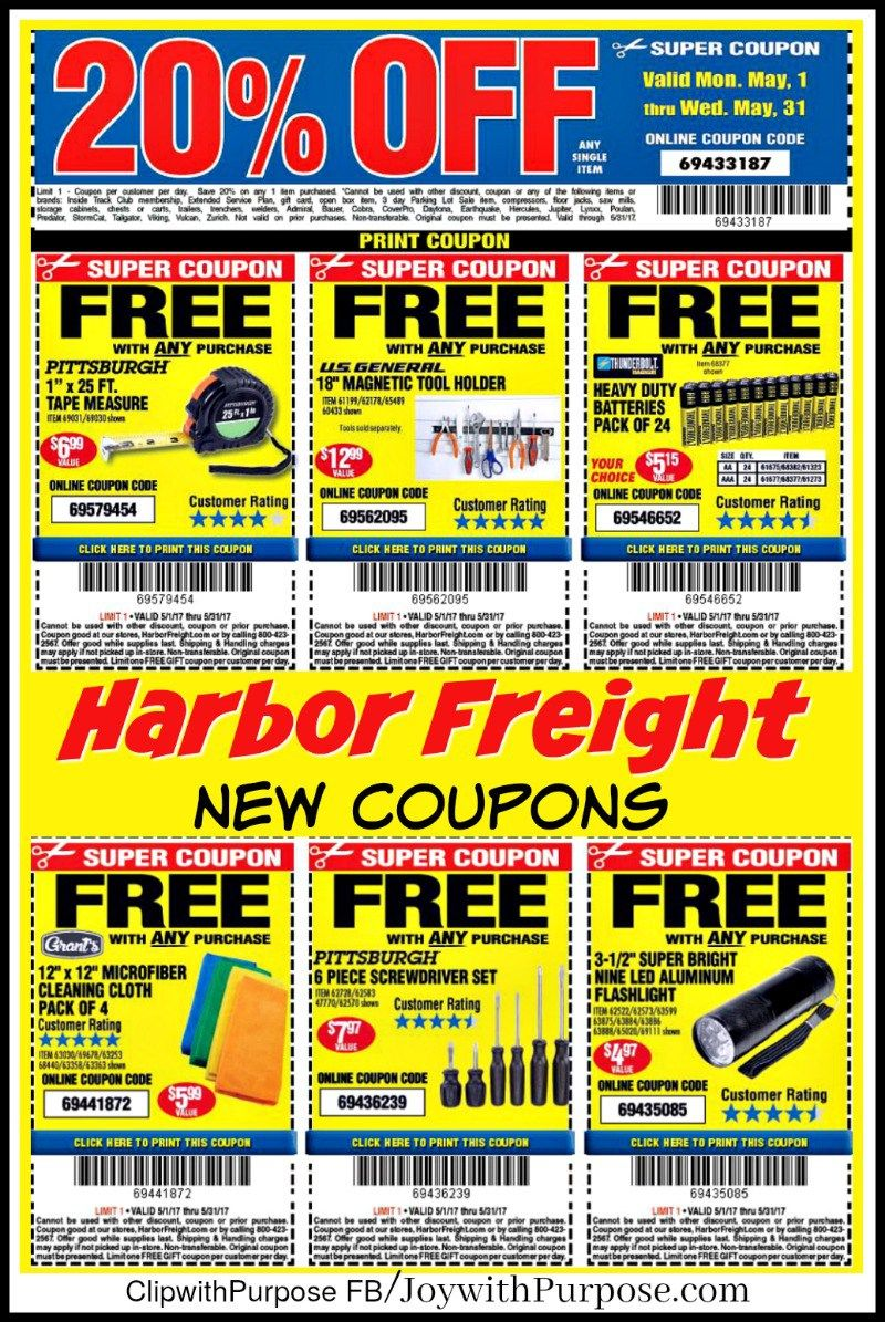 new harbor freight coupons! good for may 2017 | occ | harbor