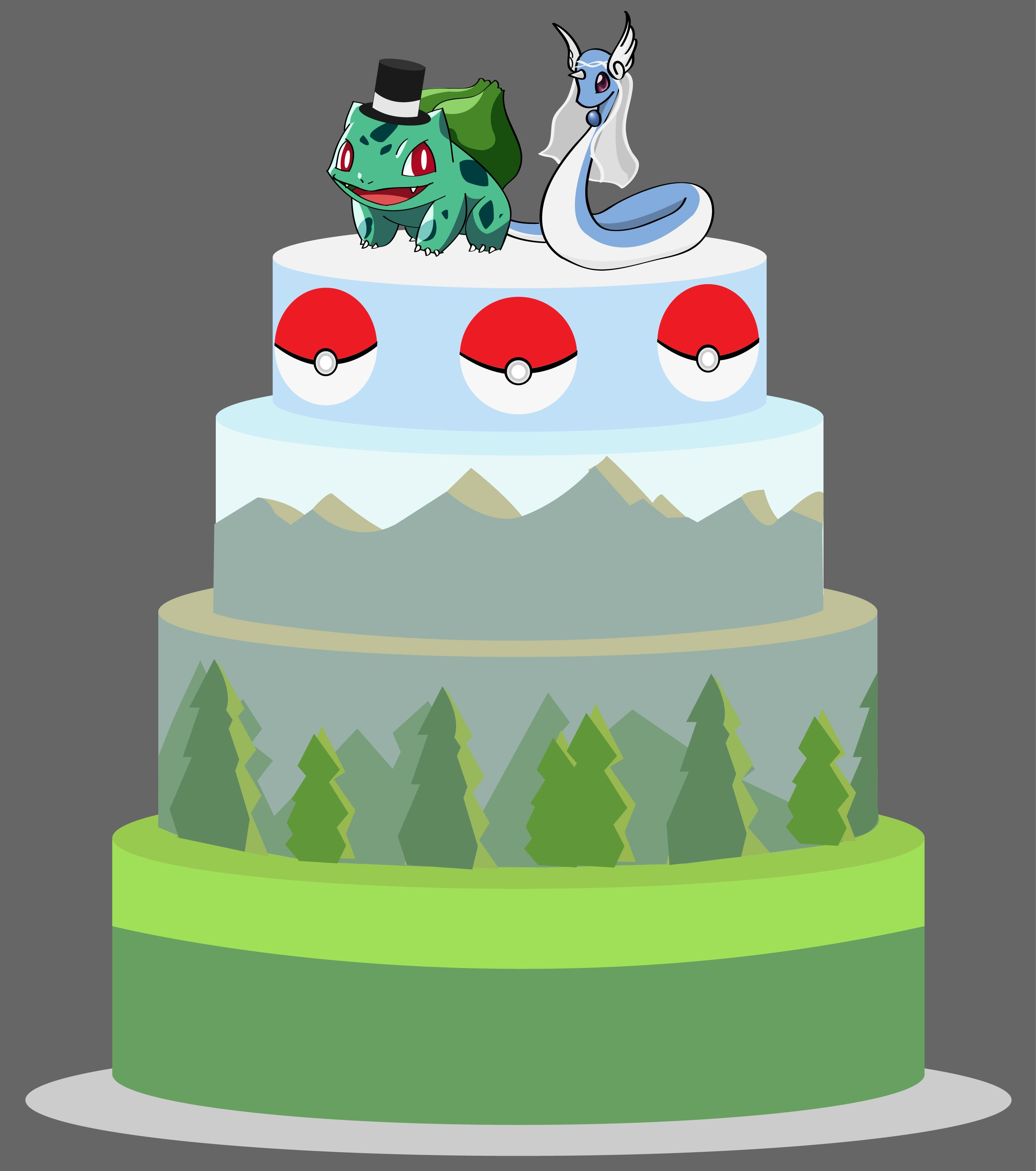 My Initial Design For Our Wedding Cake