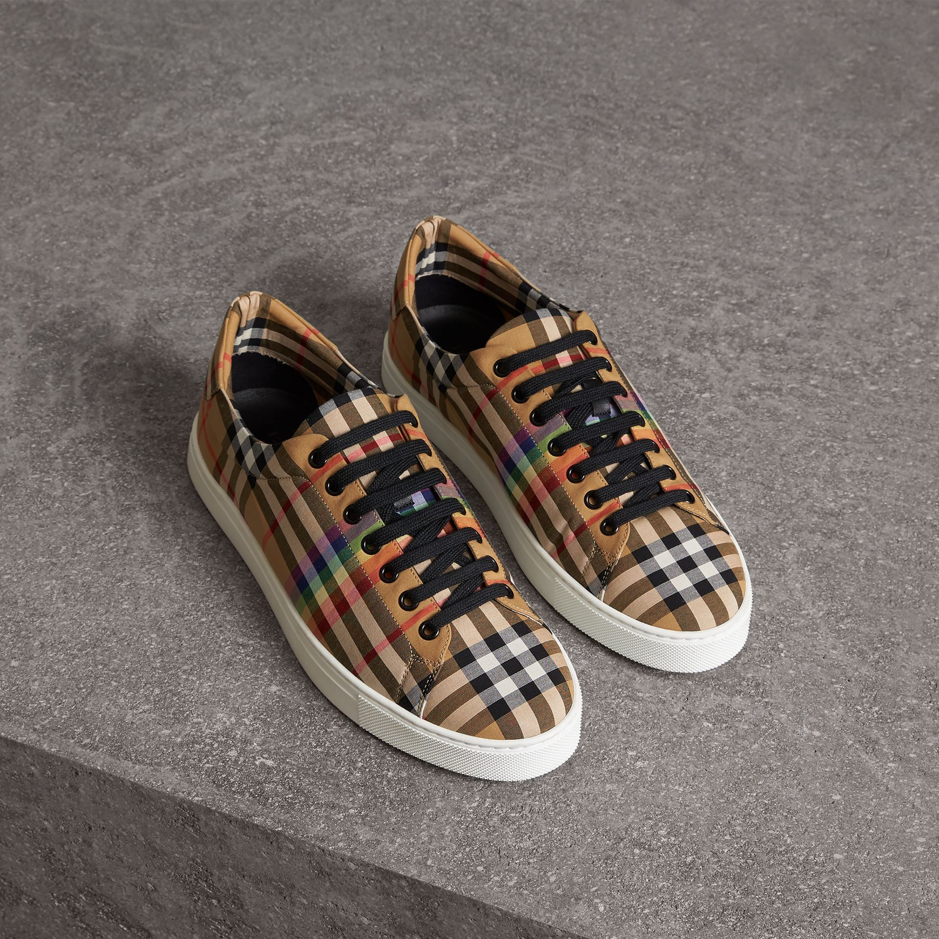883f72d84f968 BURBERRY Rainbow Vintage Check Sneakers. #burberry #shoes ...