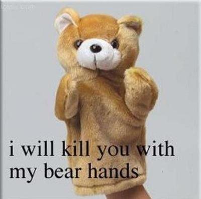 My bear hands!  Awww.