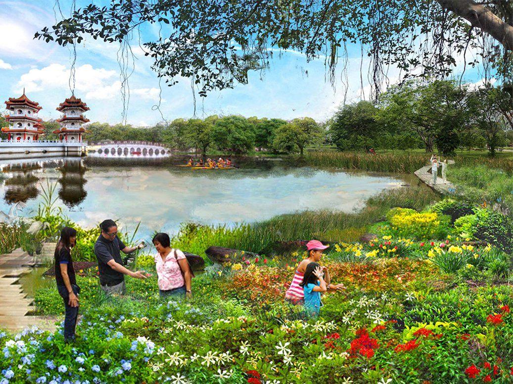 Jurong Lake Gardens, Singapore Lake garden, Lakeside