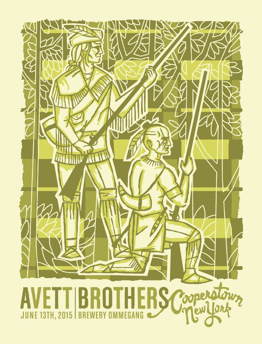 Furturtle Show Prints - AVETT BROTHERS Cooperstown 2015 Poster ...