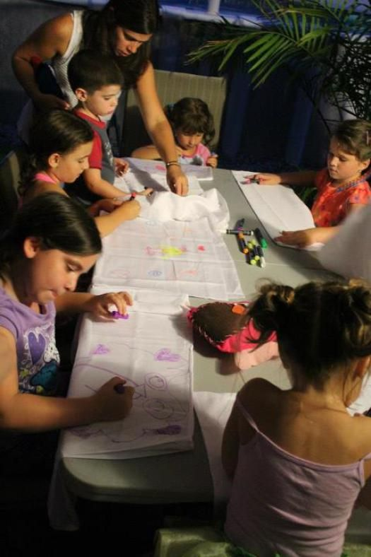 Night Owl Party: Make your own pillowcase activity