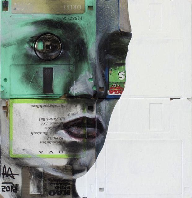 New Floppy disk portraits Nick Gentry 11