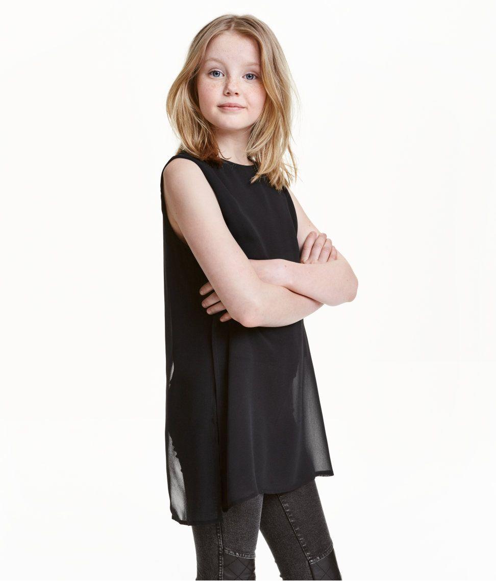 Hihaton sifonkipusero   Musta   Kids   H&M FI