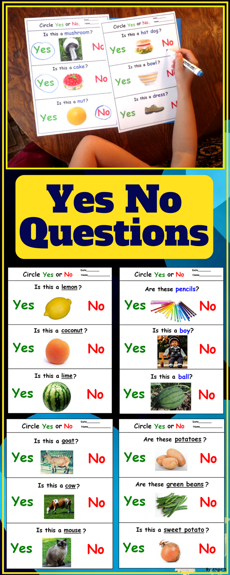 Yes No Questions for Speech Therapy | Autism and Special ...