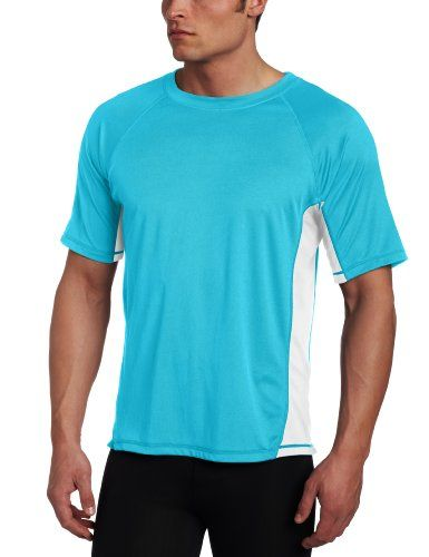 Kanu Surf Men's CB Rashguard Swim Tee, Aqua, Medium - Kanu surf presents our newest swim tees with a much looser fit than traditional rashguard for yet more comfort and versatility, kanu surf, a surf and swim lifestyle brand, is well known for great