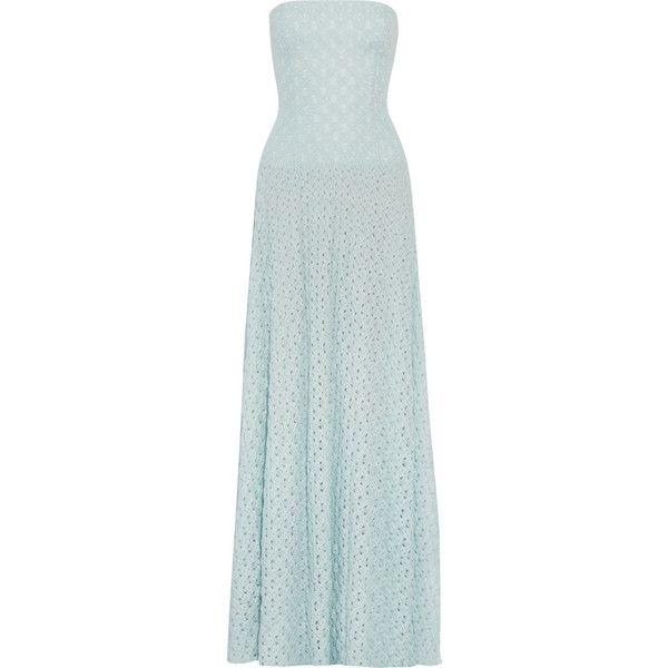 Missoni Crochet-knit gown ($835) ❤ liked on Polyvore featuring ...