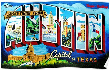 Greeting from austin by jeff brewster poster by thefigleaf greeting from austin by jeff brewster poster m4hsunfo