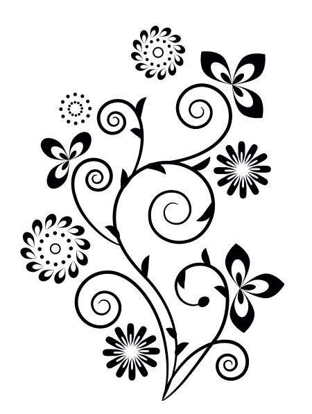 Fleurs Stylisees Fleurs Stylisees Swirl Design Design Et Design
