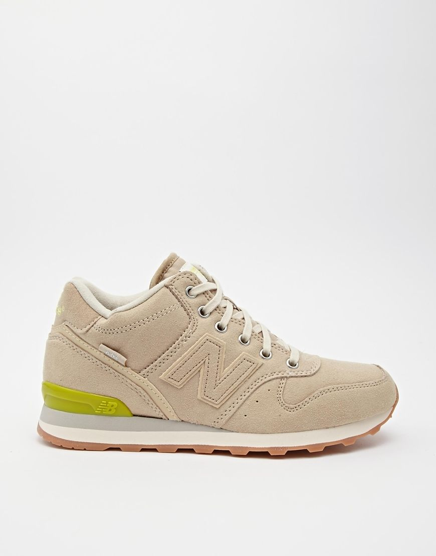 new balance 996 beige trainers