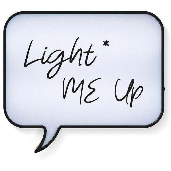 Merkury Innovations Large Speech Bubble Light Box