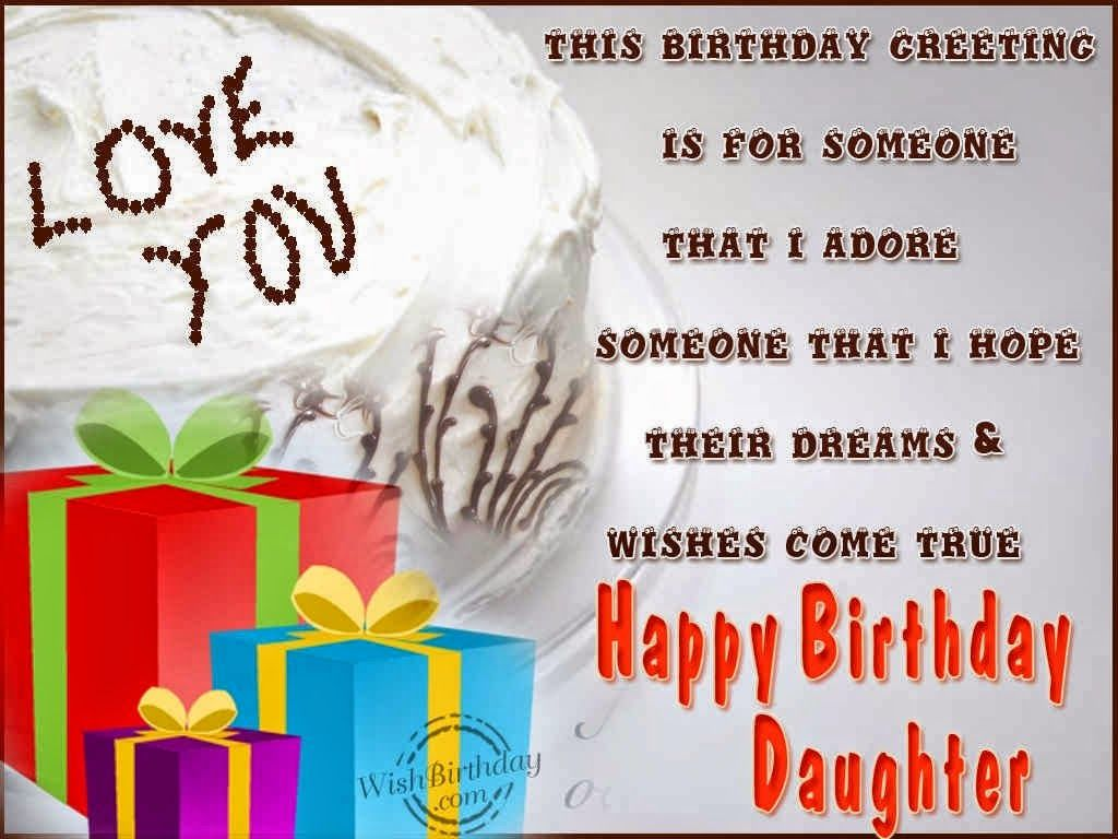 Birthday Greetings For Daughter Birthday Greetings Card For – Wish Birthday Card
