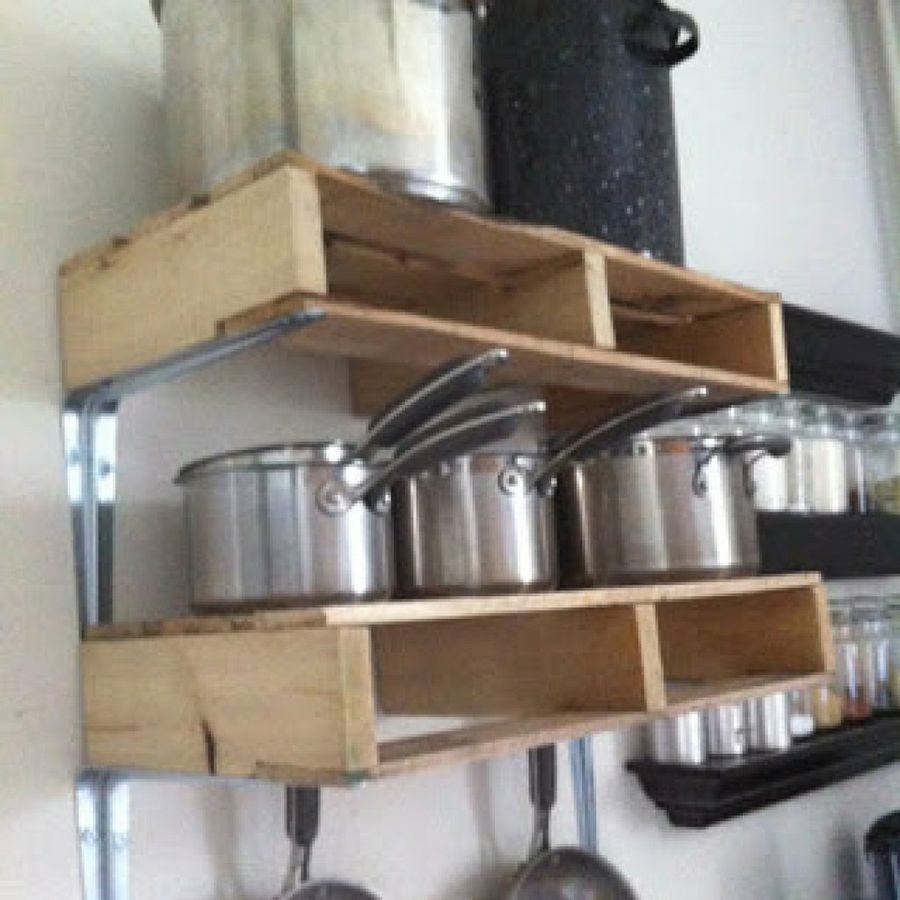 10 ideas con palets para amueblar y decorar la cocina - Tarima para cocina ...