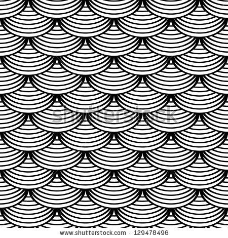 "Seamless geometric pattern in ""fish scale"" design. . Vector art. by troyka, via ShutterStock"