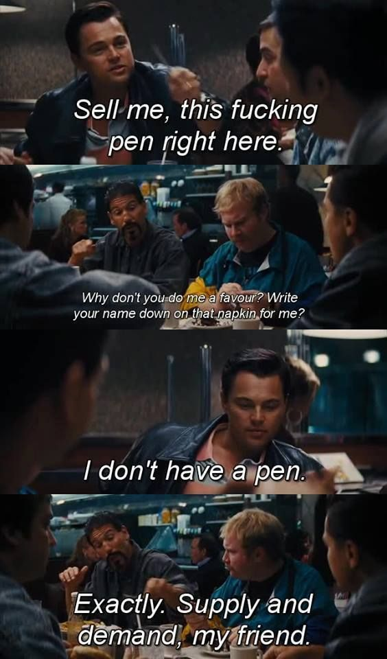 Wall Street Quotes Wolf Of Wall Street Sell Me This Pen Quote  Pinterest  Money