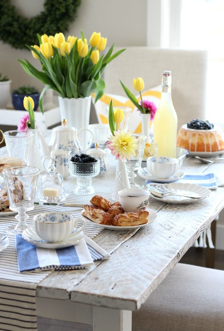 Bright Cheery Afternoon Tea For Mothers Day Blogger Home