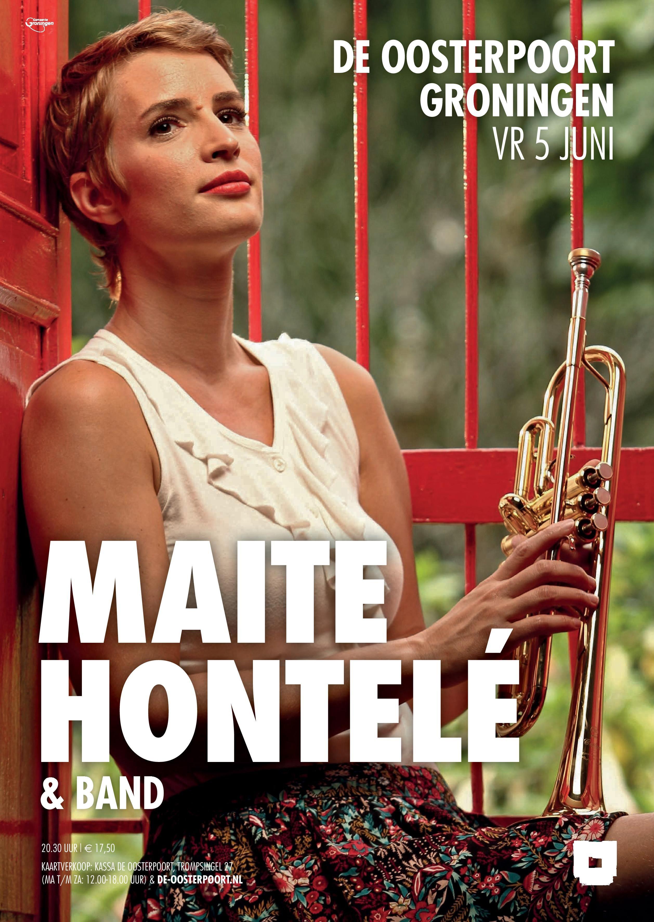 Colombia is gek op de uit Nederland afkomstige trompettiste MAITE HONTELE. In juni keert ze met haar Colombiaanse band terug om haar spetterende latino vibes over te brengen op de heupen van het Groningse publiek.