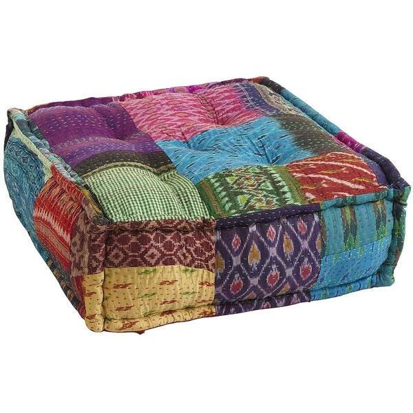 Pier One Ikat Sari Floor Pouf Multi 40 Liked On Polyvore Stunning Pier One Pouf