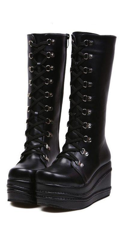 50aa9458409 Black Lolita Platform Boots...Why can t I wear these everyday ...