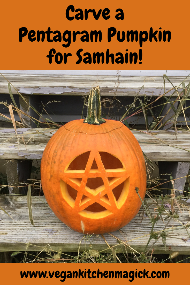 I love how our Samhain pumpkin turned out! See my blog post for the ...