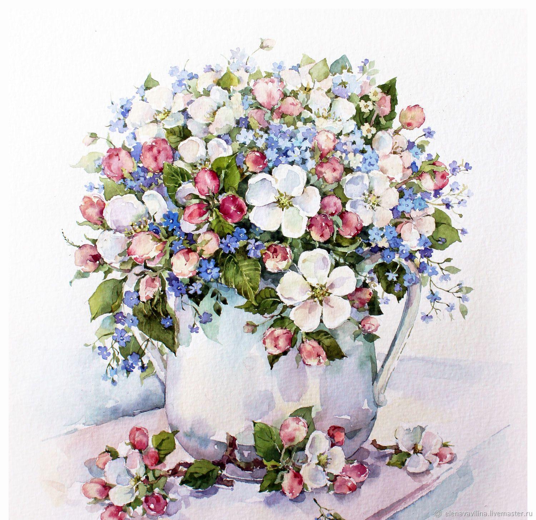 фотограф букет цветов картинки акварель пластику